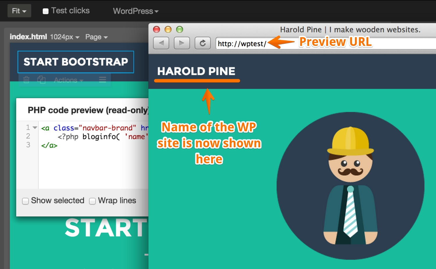 Converting HTML to WordPress | Pinegrow Web Editor