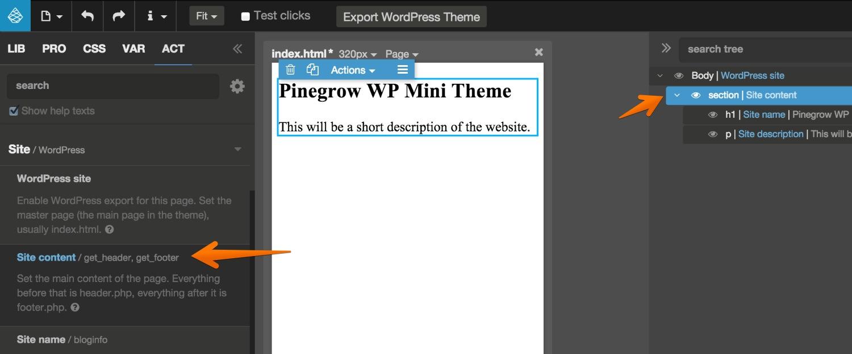 Creating WP Themes | Pinegrow Web Editor
