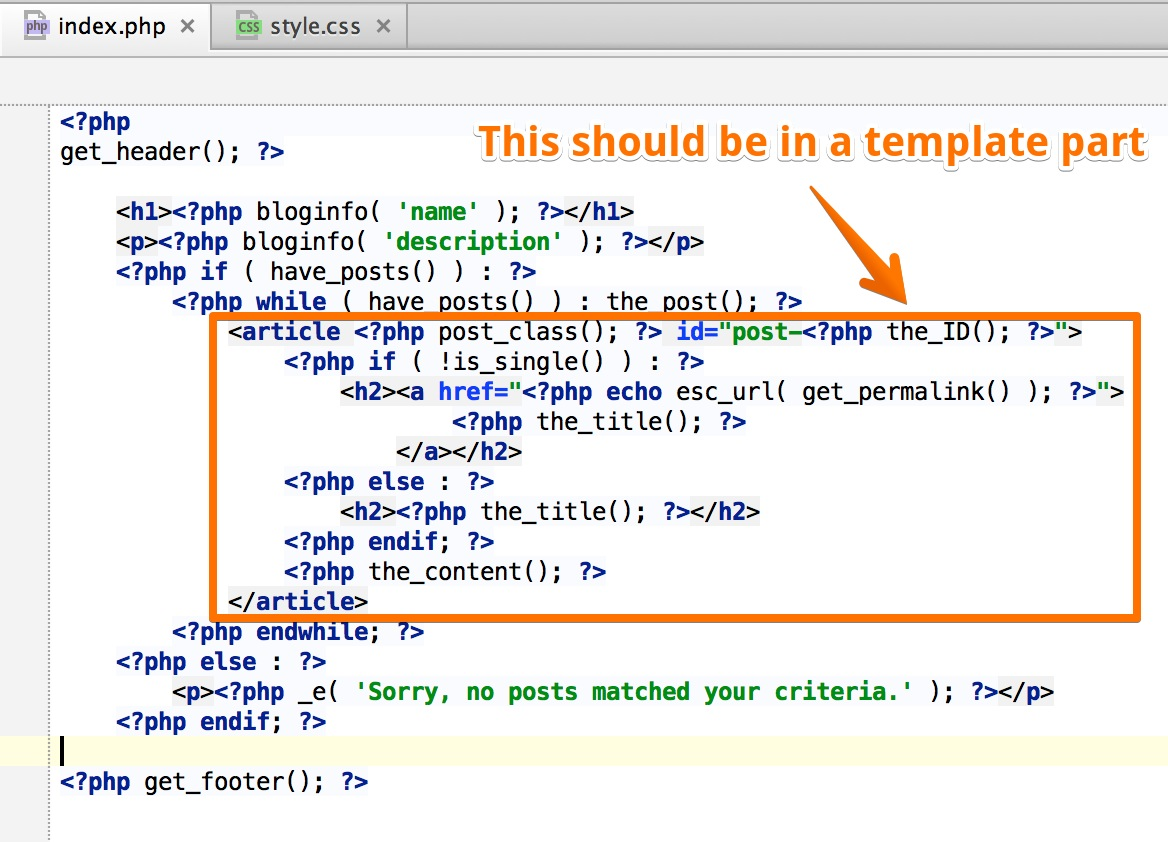 Creating wp themes pinegrow web editor template parts pronofoot35fo Choice Image